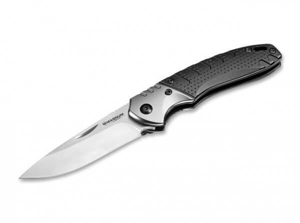 Pocket Knife, Black, Nail Nick, Linerlock, 440C, Aluminum