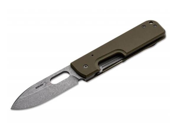 Pocket Knife, Olive, Thumb Hole, Linerlock, 440C, G10