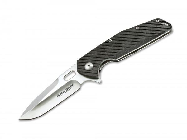 Pocket Knife, Grey, Flipper, Linerlock, 440A, G10