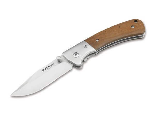 Pocket Knife, Brown, Thumb Stud, Linerlock, 440A, Stainless Steel