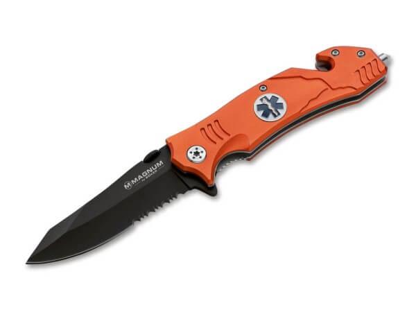Pocket Knife, Orange, Flipper, Linerlock, 440A, Aluminum
