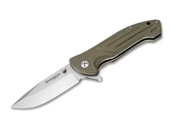 Pocket Knife, Desert Tan, Flipper, Linerlock, 440A, G10