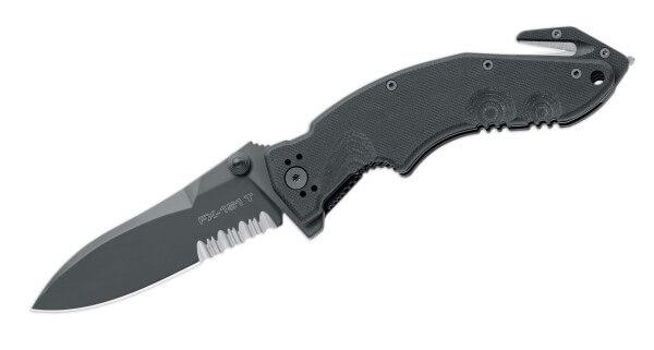 Pocket Knife, Black, Flipper, Linerlock, N690, G10