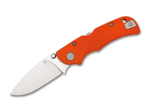 Pocket Knife, Orange, Thumb Stud, Backlock, 14C28N, G10
