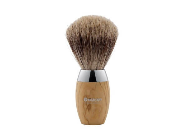 Shaving Brush, Brown, Olive Wood