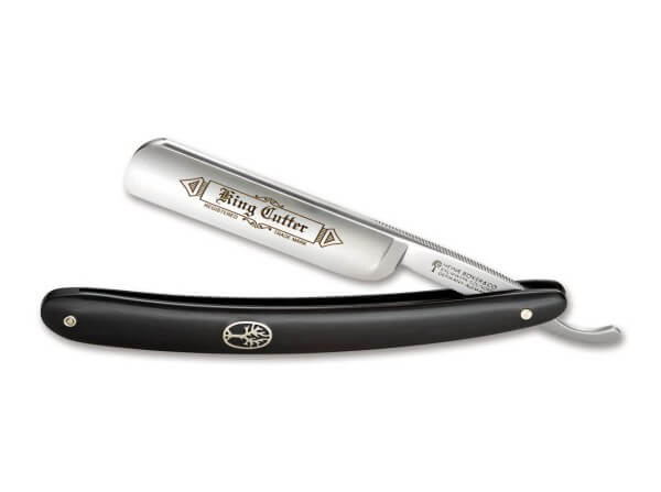 Straight Razor, Black, Stainless Steel, Synthetic