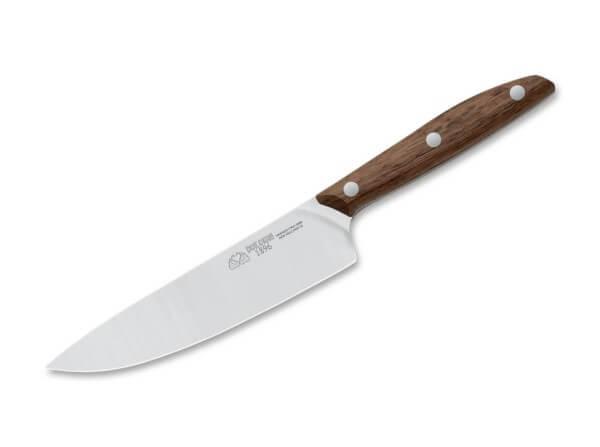 Kitchen Knife, Brown, X50CrMoV15, Walnut Wood