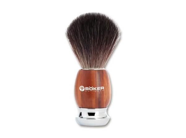 Shaving Brush, Brown, Plum Wood