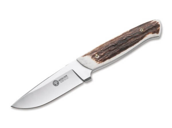 Fixed Blade, Brown, Fixed, N695, Stag