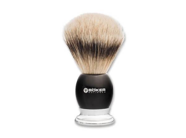 Shaving Brush, Brown, Horn