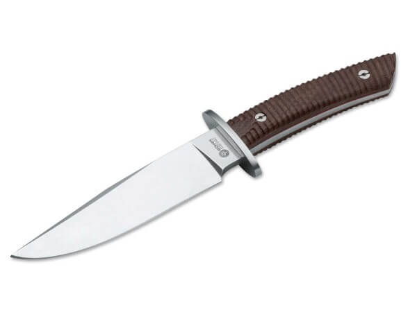 Fixed Blade, Brown, Fixed, N695, Ebony