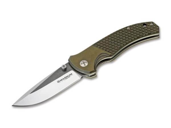 Pocket Knife, Green, Thumb Stud, Linerlock, 440A, G10