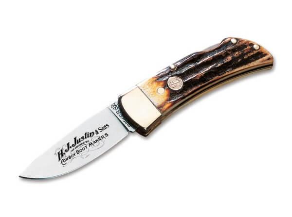 Pocket Knife, Brown, No, Backlock, 4034, Stag