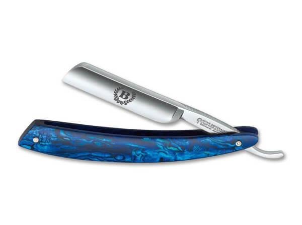 Straight Razor, Blue, Carbon Steel, Paua