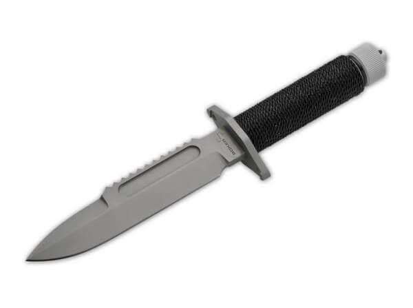 Fixed Blade, Black, Fixed, 440C, Paracord