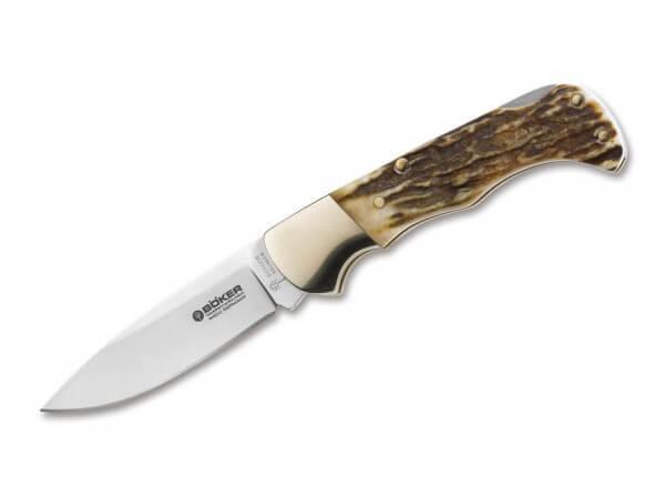 Pocket Knife, Brown, No, Backlock, 440C, Stag
