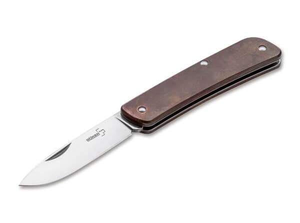 Pocket Knife, Bronze, Nail Nick, Slipjoint, 12C27, Copper