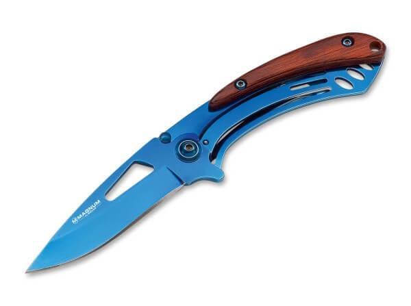Pocket Knife, Blue, Flipper, Linerlock, 440A, Steel