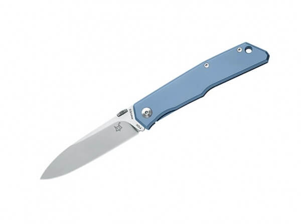 Pocket Knife, Grey, Thumb Stud, Framelock, N690, Titanium