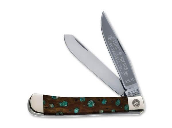 Pocket Knife, Brown, Nail Nick, Slipjoint, Carbon Steel