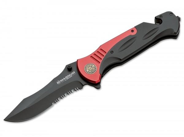 Pocket Knife, Red, Flipper, Linerlock, 440A, Aluminum