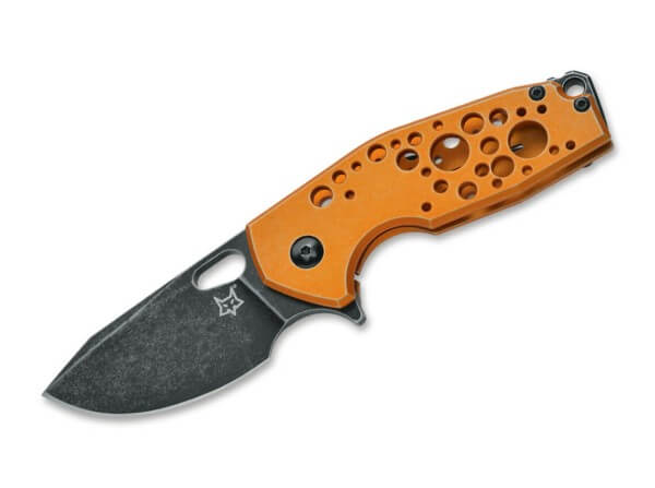 Pocket Knife, Orange, Flipper, Framelock, N690, Aluminum