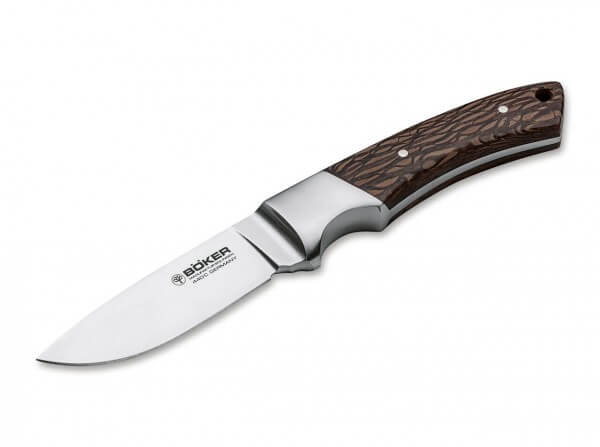 Fixed Blade, Brown, Fixed, 440C, Lacewood