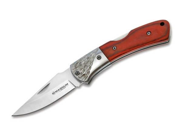 Pocket Knife, Brown, Nail Nick, Backlock, 440A, Pakka Wood