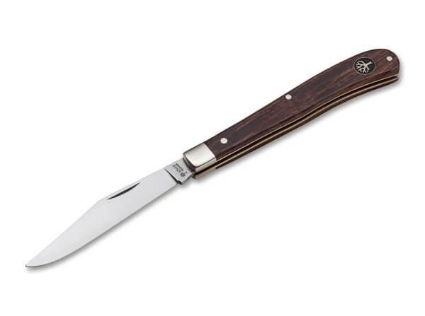 Pocket Knife, Brown, Nail Nick, Slipjoint, 440C, Desert Ironwood