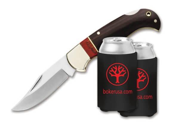 Pocket Knife, Brown, Nail Nick, Backlock, 440, Wood