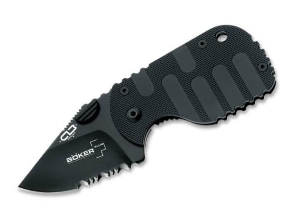 Pocket Knife, Black, Thumb Stud, Framelock, AUS-8, Zytel
