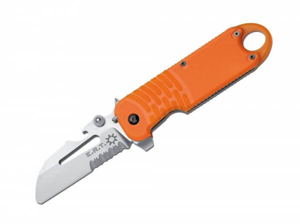 Pocket Knife, Orange, Flipper, Linerlock, N690, Synthetic