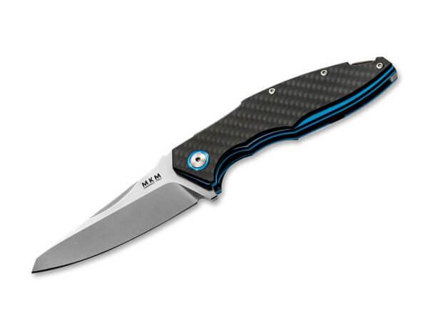 Pocket Knife, Black, Framelock, M390, Carbon Fibre