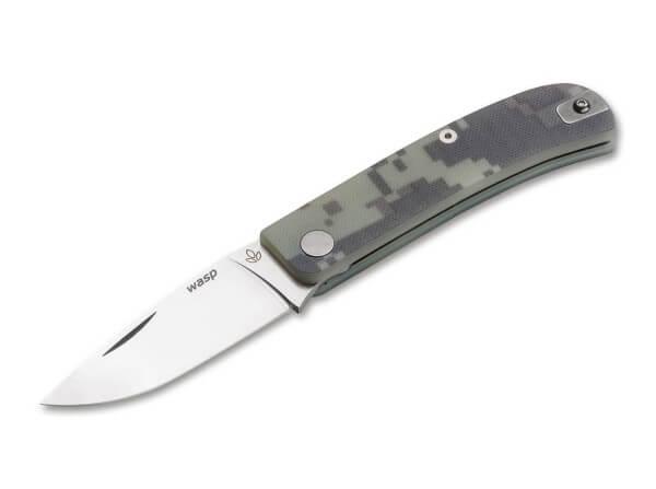 Pocket Knife, Green, Nail Nick, Slipjoint, 12C27, Micarta
