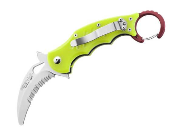 Pocket Knife, Yellow, Flipper, Linerlock, N690, G10
