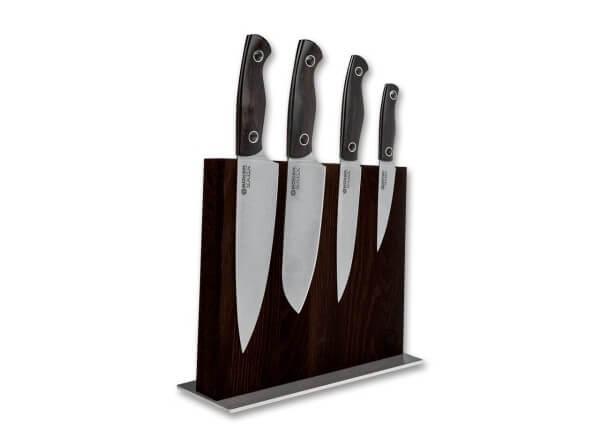 Kitchen Knife, Brown, Fixed, 440C, Grenadill Wood