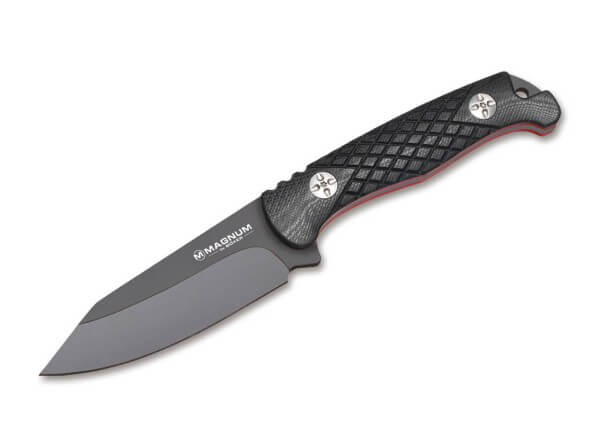 Fixed Blade, Black, Fixed, 440A, G10