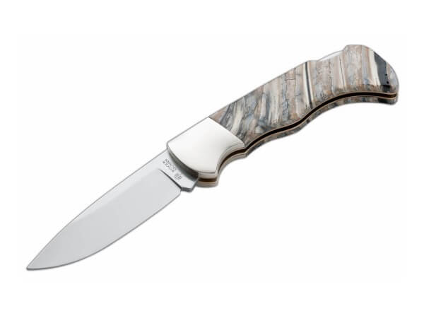 Pocket Knife, Brown, No, Backlock, 440C, Mammoth Tooth