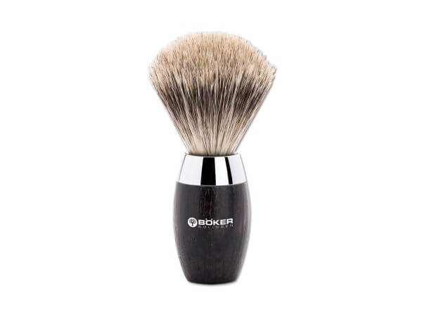 Shaving Brush, Black, Bog Oak Wood
