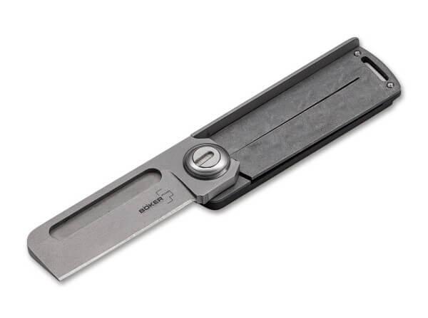 Pocket Knife, Grey, Thumb Hole, Linerlock, 9Cr13CoMoV, G10